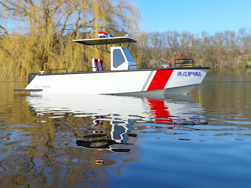 铝合金公务艇艇尾形状的设计